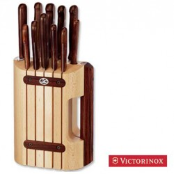 VICTORINOX STRAINS OF 11 PIECES KNIVES, KITCHEN HANDLE IN ROSEWOOD