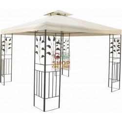 BLINKY GAZEBO IN METALLO DECORATO TELO BEIGE CM.300X300