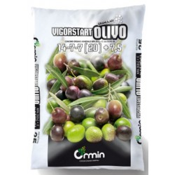 FERTILIZER SPECIFIC FOR OLIVE tree VIGORSTART NPK 14.7.7 WITH MICROELEMENTS kg. 25